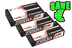 PK Racing - PK-200-050-3 - Li-Po TAKARA 100C - 3.7V 1S - 7200mAh - Hardcase 1S - 4mm Bullet- 3 pcs