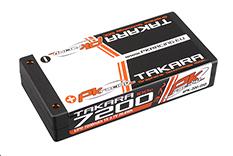 PK Racing - PK-200-050 - Li-Po TAKARA 100C - 3.7V 1S - 7200mAh - Hardcase 1S - 4mm Bullet