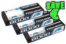 PK Racing - PK-200-120-3 - Li-HV ASHIRA HV 100C - 7.6V 2S - 8000mAh - Hardcase Stick 2S - 5mm Bullet - EFRA BRCA - 3 pcs