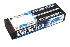 PK Racing - PK-200-120 - Li-HV ASHIRA HV 100C - 7.6V 2S - 8000mAh - Hardcase Stick 2S - 5mm Bullet - EFRA BRCA