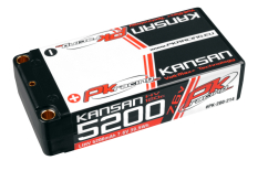 PK Racing - PK-200-214 - Li-HV KANSAN 120C - 7.6V 2S - 5200mAh - Hardcase Shorty 2S - 5mm Bullet - EFRA BRCA