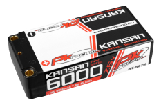 PK Racing - PK-200-216 - Li-HV KANSAN 120C - 7.6V 2S - 6000mAh - Hardcase Shorty 2S - 5mm Bullet - EFRA BRCA