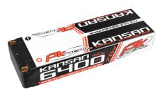 PK Racing - PK-200-218 - Li-HV KANSAN 120C - 7.6V 2S - 6400mAh - Hardcase Stick 2S - 5mm Bullet - EFRA BRCA