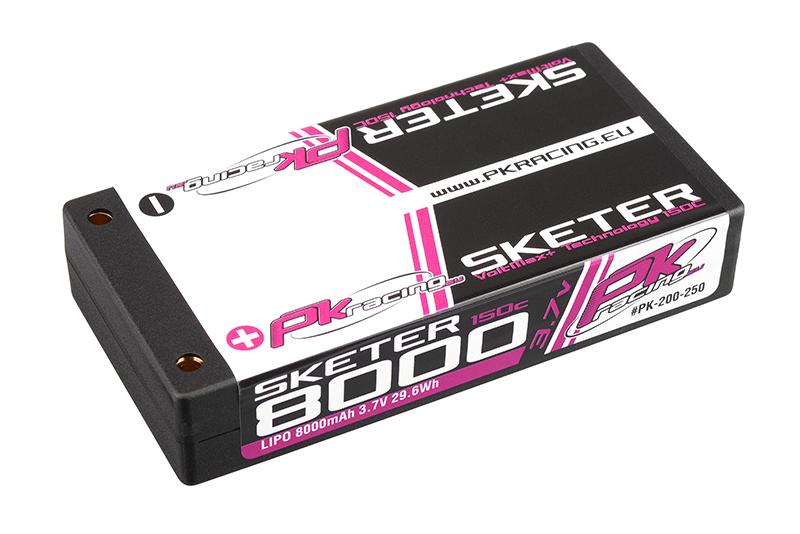 PK Racing - PK-200-250 - Li-Po SKETER 150C - 3.7V 1S - 8000mAh - Hardcase 1S - 4mm Bullet