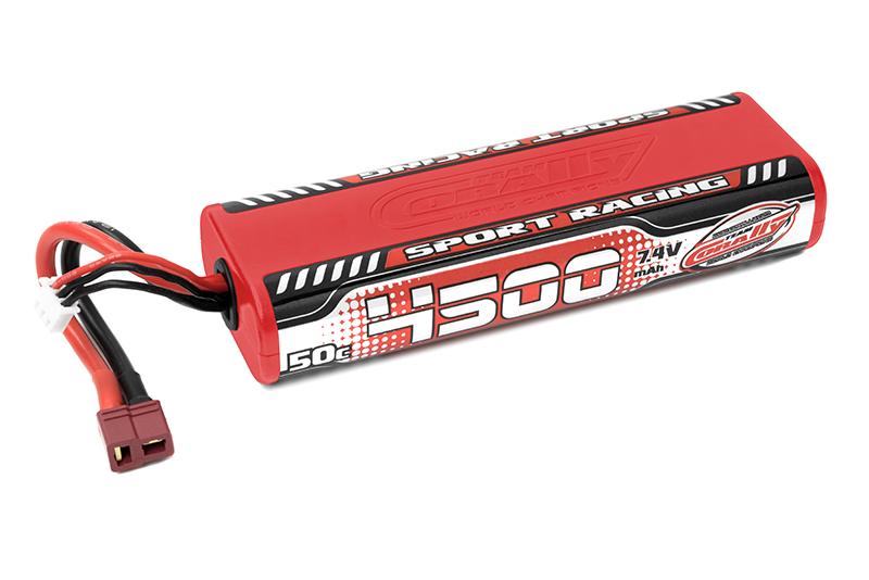 Team Corally - C-49440 - Sport Racing 50C LiPo Battery - 4500mAh - 7.4V - Round 2S Stick - T-Plug
