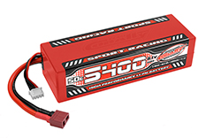 Team Corally - C-49445 - Sport Racing 50C LiPo Battery - 5400mAh - 11.1V - Stick 3S - Hard Wire - T-Plug