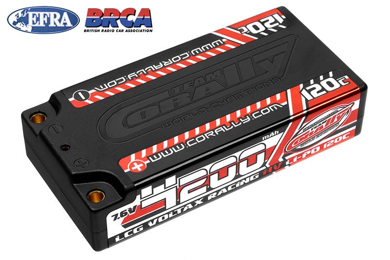 Team Corally - C-49600 - Voltax 120C LiPo HV Battery - 4200 mAh - 7.6V - LCG Shorty 2S - 4mm Bullit