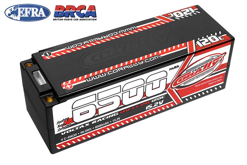 Team Corally - C-49630 - Voltax 120C LiPo HV Battery - 6500 mAh - 15.2V - Stick 4S - 5mm Bullit