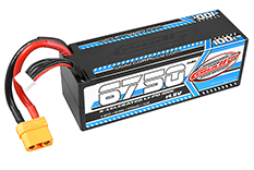 Team Corally - C-49731 - X-Celerated 100C LiPo Battery - 6750 mAh - 14.8V - Stick 4S - Hard Wire - XT90