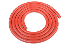 Team Corally - C-50105 - Ultra V+ Silicone Wire - Super Flexible - Red - 10AWG - 2683 / 0.05 Strands - ODø 5.5mm - 1m