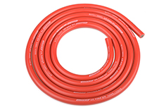 Team Corally - C-50110 - Ultra V+ Silicone Wire - Super Flexible - Red - 12AWG - 1731 / 0.05 Strands - ODø 4.5mm - 1m