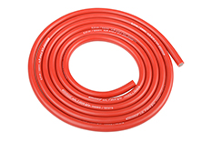 Team Corally - C-50120 - Ultra V+ Silicone Wire - Super Flexible - Red - 14AWG - 1018 / 0.05 Strands - ODø 3.5mm - 1m