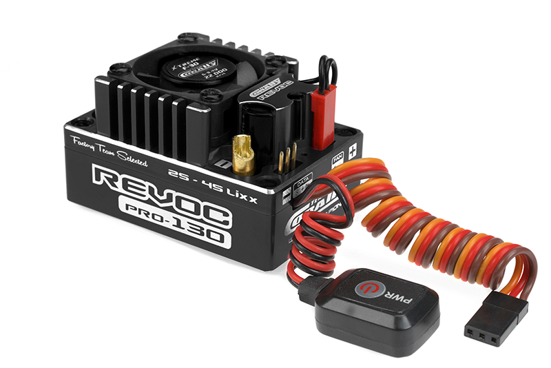 "Team Corally - C-53004-1 - Revoc PRO 160 ""Racing Factory"" - Black edition - 2-6S Esc For Sensored And Sensorless Motors - 160A"
