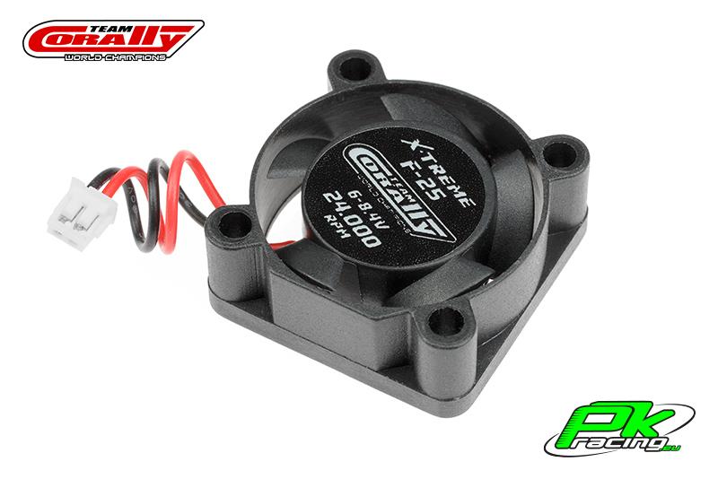 Team Corally - C-53100 - ESC Ultra High Speed Cooling Fan 25mm - 6v-8,4V - Dual ball bearings - ESC connector