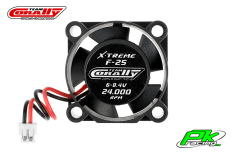 Team Corally - C-53100 - ESC Ultra High Speed Cooling Fan 25mm - 6v-8,4V - Dual ball bearings - ESC connector