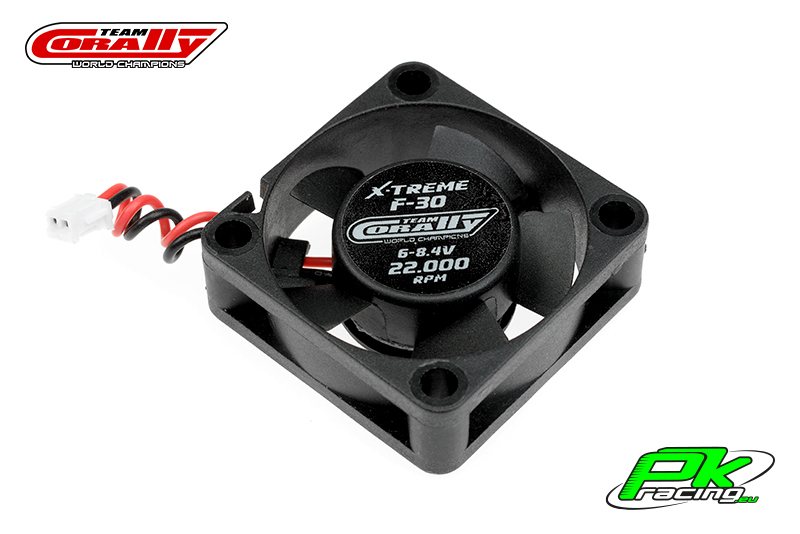 Team Corally - C-53101 - ESC Ultra High Speed Cooling Fan 30mm - 6v-8,4V - Dual ball bearings - ESC connector