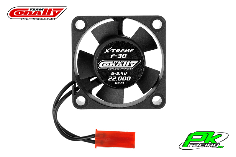 Team Corally - C-53102 - ESC Ultra High Speed Cooling Fan 30mm - 6v-8,4V - Dual ball bearings - BEC connector