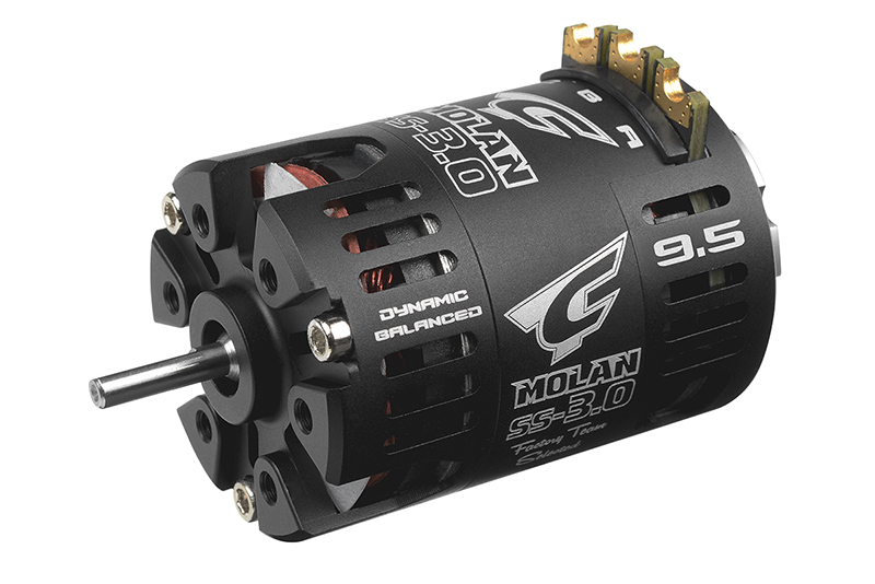 Team Corally - C-61056 - MOLAN SS-3.0 - 1/10 Sensored 2-Pole Competition Brushless Motor - Modified - 9.5 Turns - 3800 KV