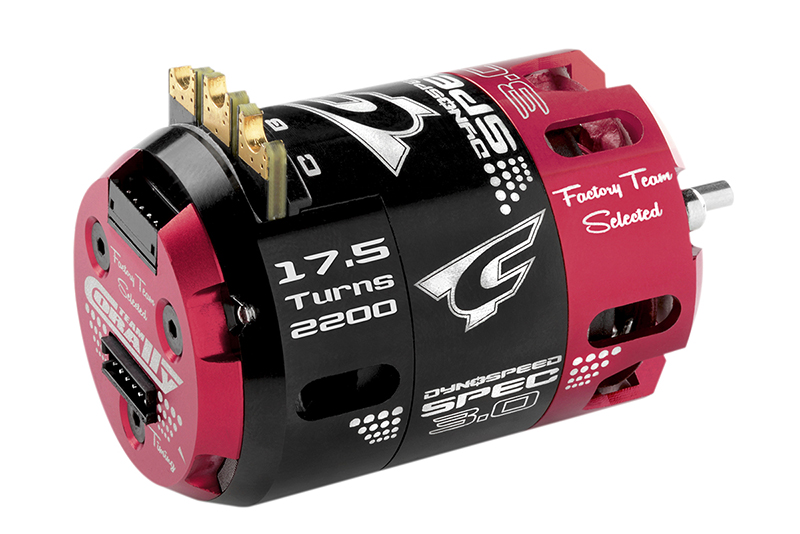 Team Corally - C-61102 - Dynospeed SPEC 3.0 - 1/10 Sensored 2-Pole Competition Brushless Motor - Stock - 17.5 Turns - 2200 KV