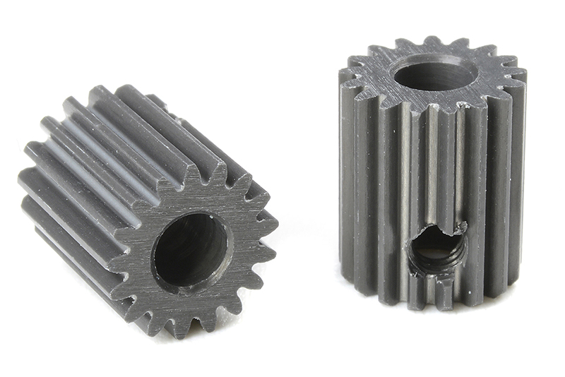 Team Corally - C-70317 - 64 DP Pinion - Short - Hard Anodised AL7075 - 17 Teeth - Shaft Dia. 3.17mm
