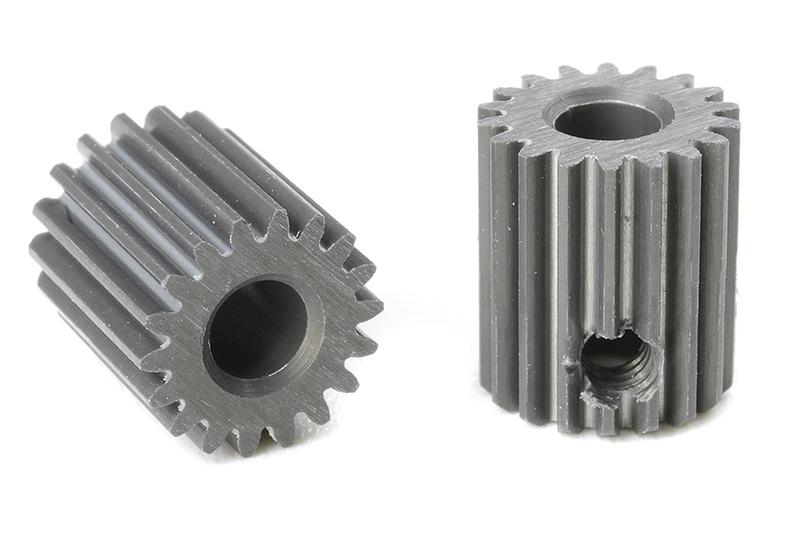 Team Corally - C-70318 - 64 DP Pinion - Short - Hard Anodised AL7075 - 18 Teeth - Shaft Dia. 3.17mm