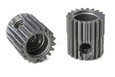 Team Corally - C-70319 - 64 DP Pinion - Short - Hard Anodised AL7075 - 19 Teeth - Shaft Dia. 3.17mm