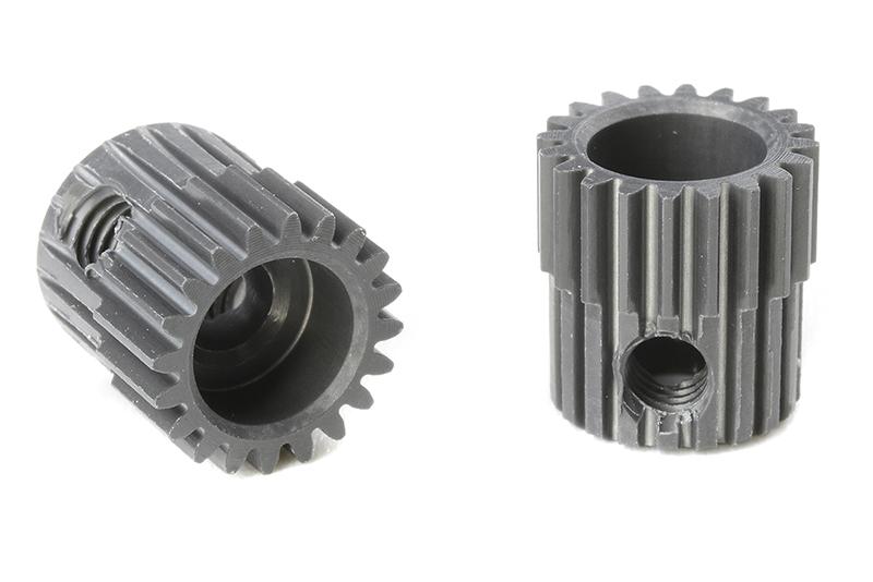 Team Corally - C-70320 - 64 DP Pinion - Short - Hard Anodised AL7075 - 20 Teeth - Shaft Dia. 3.17mm