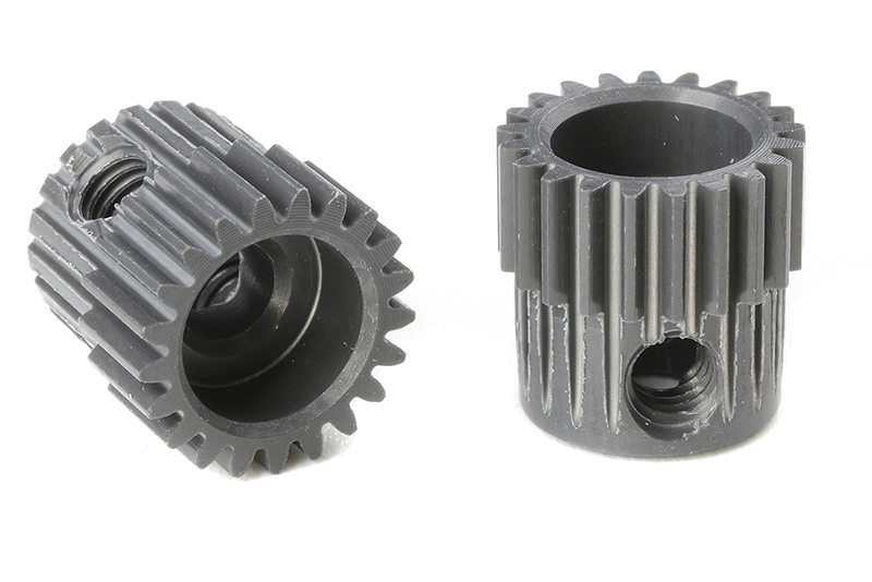 Team Corally - C-70321 - 64 DP Pinion - Short - Hard Anodised AL7075 - 21 Teeth - Shaft Dia. 3.17mm