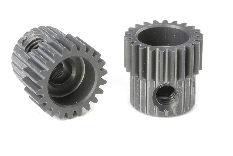 Team Corally - C-70322 - 64 DP Pinion - Short - Hard Anodised AL7075 - 22 Teeth - Shaft Dia. 3.17mm