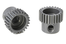 Team Corally - C-70324 - 64 DP Pinion - Short - Hard Anodised AL7075 - 24 Teeth - Shaft Dia. 3.17mm