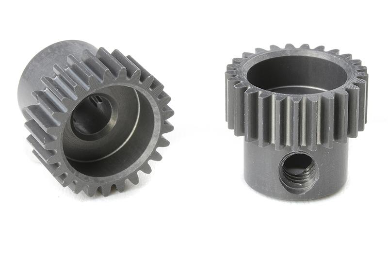 Team Corally - C-70325 - 64 DP Pinion - Short - Hard Anodised AL7075 - 25 Teeth - Shaft Dia. 3.17mm