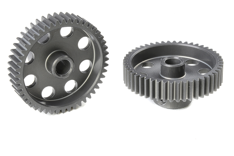 Team Corally - C-70348 - 64 DP Pinion - Short - Hard Anodised AL7075 - 48 Teeth - Shaft Dia. 3.17mm