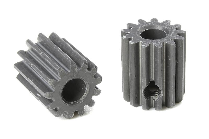 Team Corally - C-70413 - 48 DP Pinion - Short - Hard Anodised AL7075 - 13 Teeth - Shaft Dia. 3.17mm