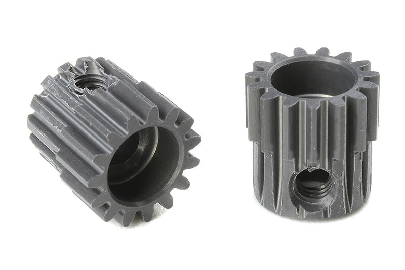 Team Corally - C-70415 - 48 DP Pinion - Short - Hard Anodised AL7075 - 15 Teeth - Shaft Dia. 3.17mm