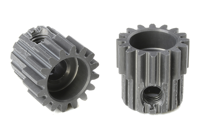 Team Corally - C-70416 - 48 DP Pinion - Short - Hard Anodised AL7075 - 16 Teeth - Shaft Dia. 3.17mm