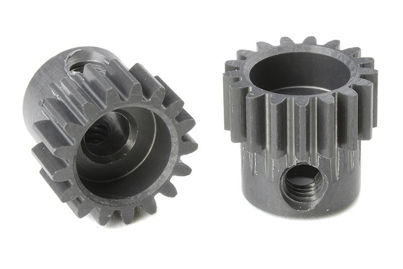 Team Corally - C-70417 - 48 DP Pinion - Short - Hard Anodised AL7075 - 17 Teeth - Shaft Dia. 3.17mm