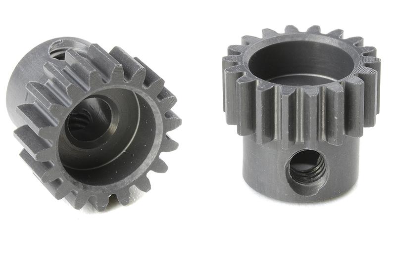 Team Corally - C-70418 - 48 DP Pinion - Short - Hard Anodised AL7075 - 18 Teeth - Shaft Dia. 3.17mm