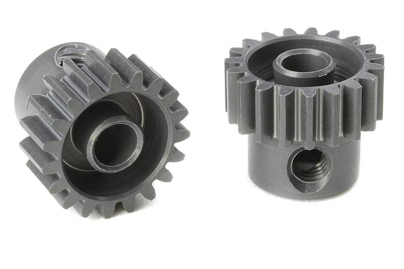 Team Corally - C-70419 - 48 DP Pinion - Short - Hard Anodised AL7075 - 19 Teeth - Shaft Dia. 3.17mm