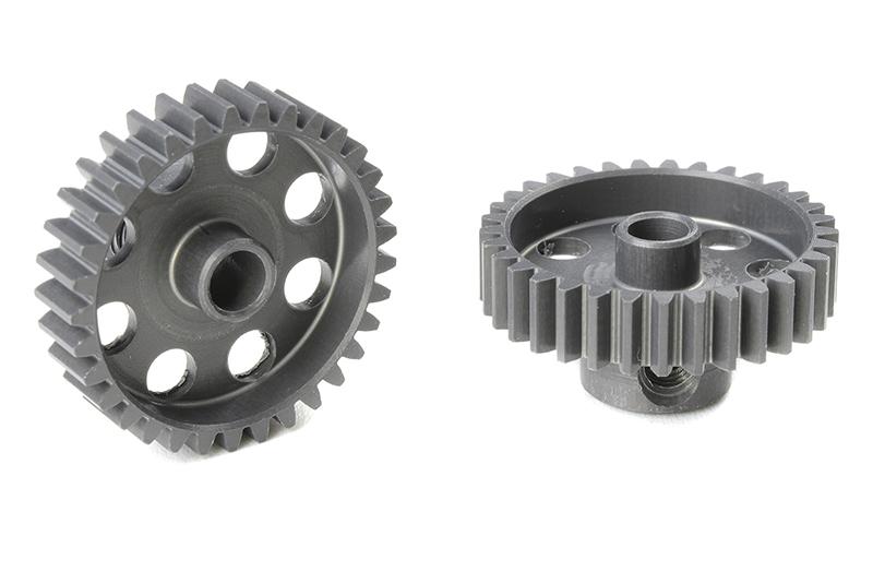 Team Corally - C-70433 - 48 DP Pinion - Short - Hard Anodised AL7075 - 33 Teeth - Shaft Dia. 3.17mm