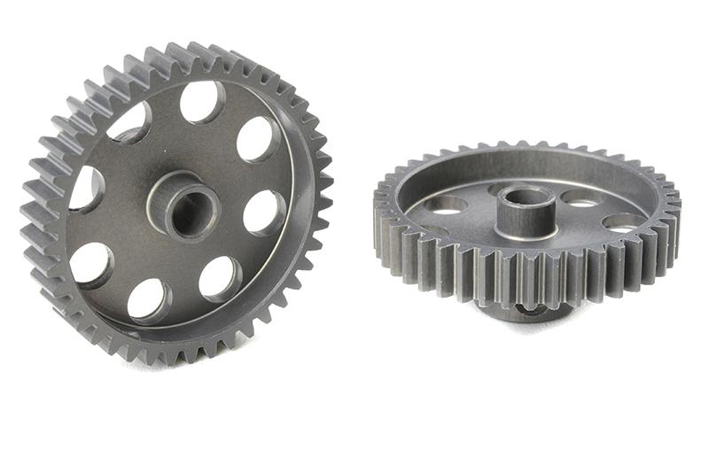 Team Corally - C-70442 - 48 DP Pinion - Short - Hard Anodised AL7075 - 42 Teeth - Shaft Dia. 3.17mm