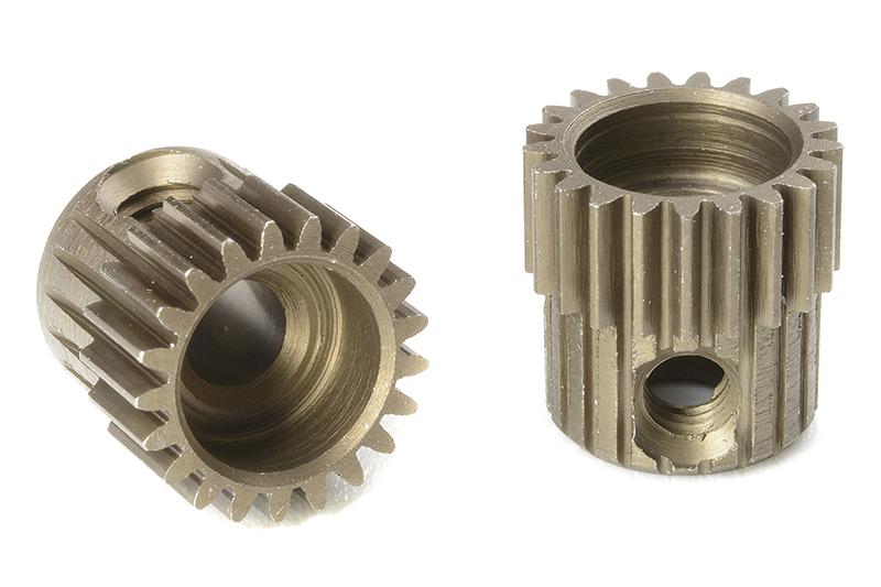 Team Corally - C-71321 - 64 DP Pinion - Short - Hardened Steel - 21 Teeth - Shaft Dia. 3.17mm