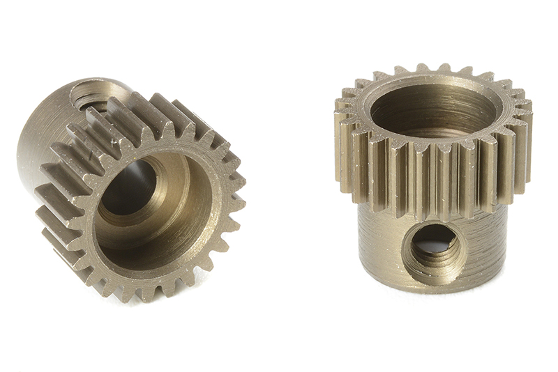 Team Corally - C-71324 - 64 DP Pinion - Short - Hardened Steel - 24 Teeth - Shaft Dia. 3.17mm