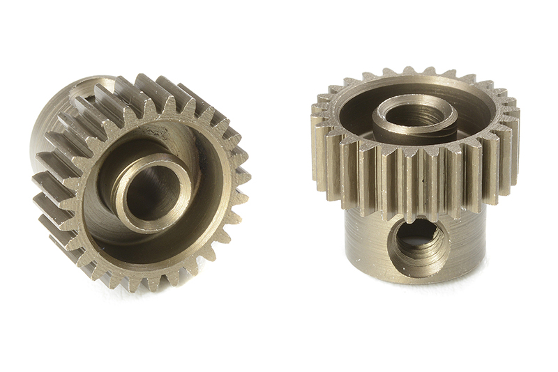 Team Corally - C-71327 - 64 DP Pinion - Short - Hardened Steel - 27 Teeth - Shaft Dia. 3.17mm