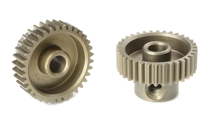 Team Corally - C-71334 - 64 DP Pinion - Short - Hardened Steel - 34 Teeth - Shaft Dia. 3.17mm