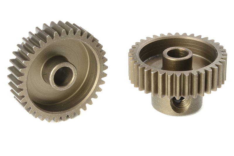 Team Corally - C-71336 - 64 DP Pinion - Short - Hardened Steel - 36 Teeth - Shaft Dia. 3.17mm