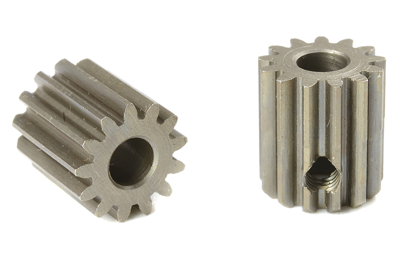 Team Corally - C-71413 - 48 DP Pinion - Short - Hardened Steel - 13 Teeth - Shaft Dia. 3.17mm