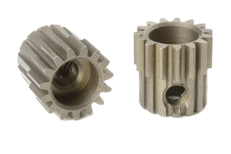 Team Corally - C-71415 - 48 DP Pinion - Short - Hardened Steel - 15 Teeth - Shaft Dia. 3.17mm