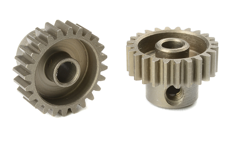 Team Corally - C-71424 - 48 DP Pinion - Short - Hardened Steel - 24 Teeth - Shaft Dia. 3.17mm