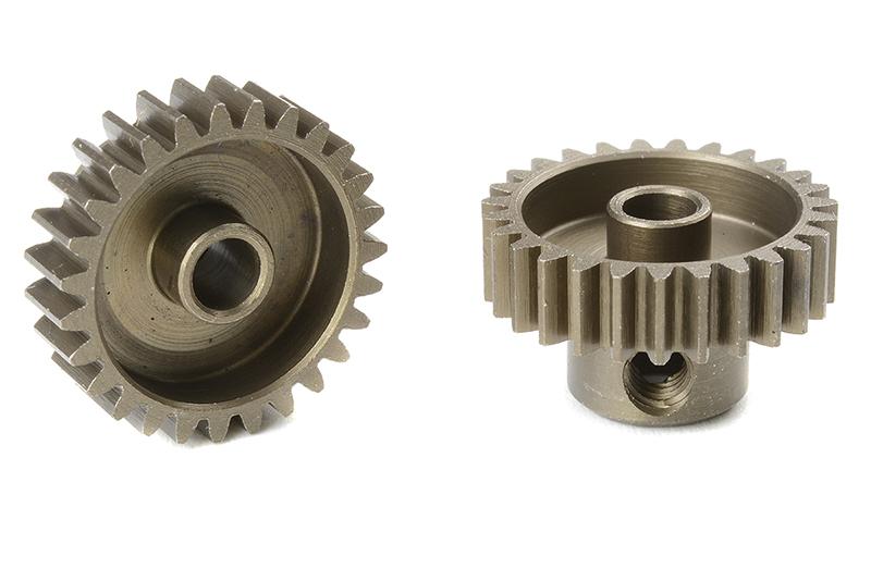 Team Corally - C-71427 - 48 DP Pinion - Short - Hardened Steel - 27 Teeth - Shaft Dia. 3.17mm