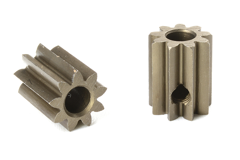 Team Corally - C-71609 - M0.6 Pinion - Short - Hardened Steel - 9 Teeth - Shaft Dia. 3.17mm
